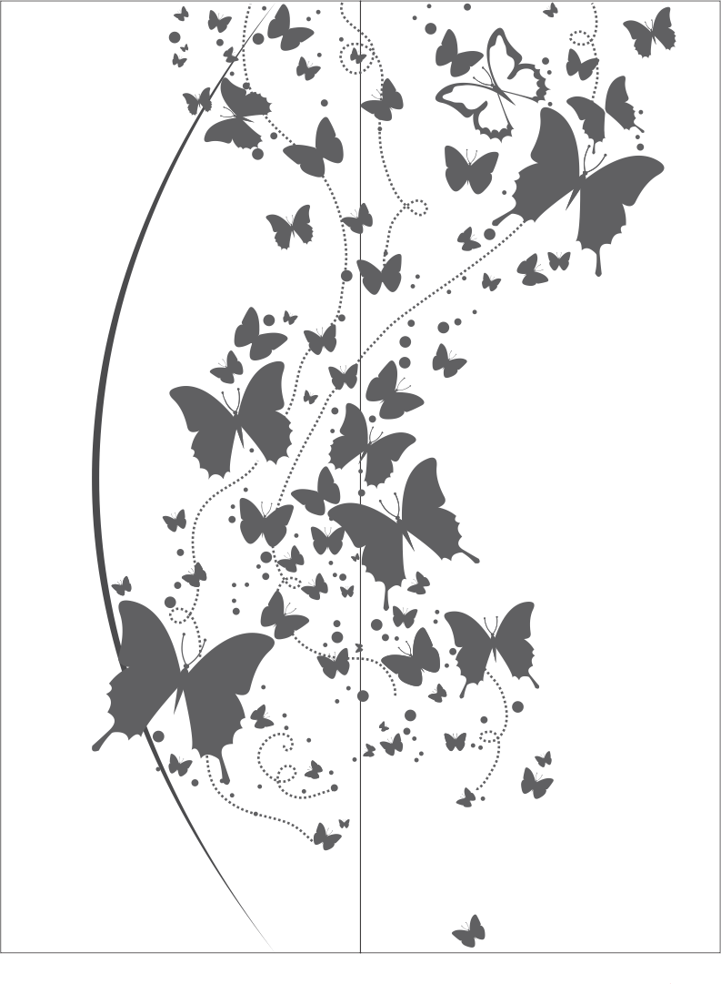 medium resolution of flying butterfly clipart black and white vector free vector