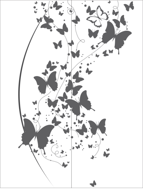 small resolution of flying butterfly clipart black and white vector free vector