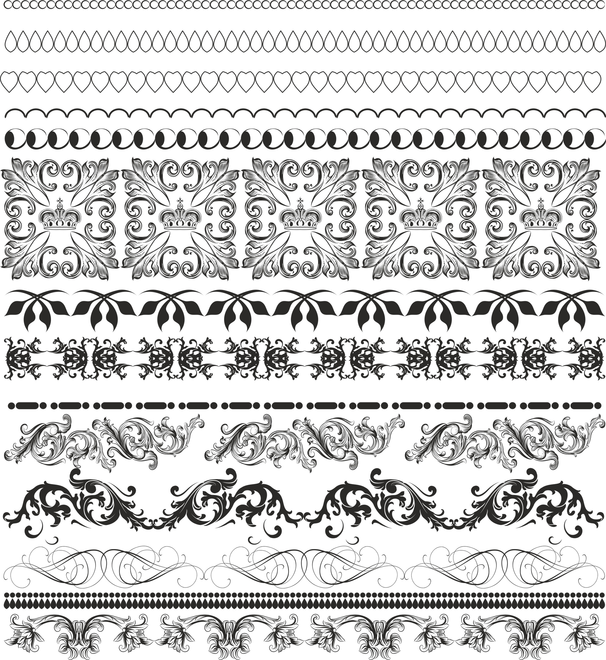 border pattern free vector