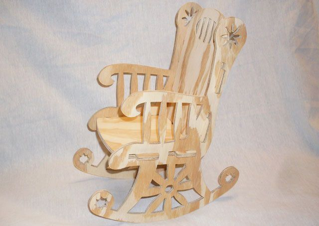 Rocking Chair Cnc Project 18 Inch Bit dxf File Free