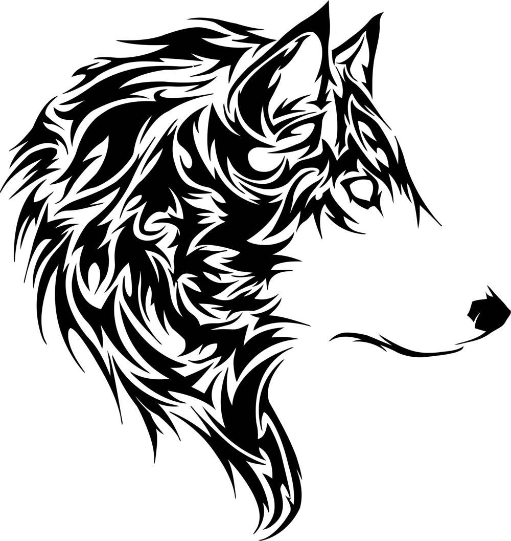 Wolf Stencil Vector Free Vector cdr Download - 3axisco
