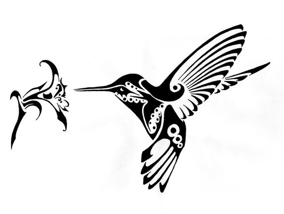 Hummingbird and Flower vector art dxf File Free Download  3axisco