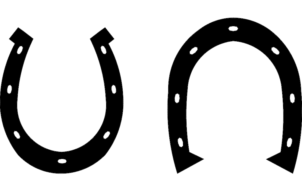 Horse shoe dxf File Free Download  3axisco