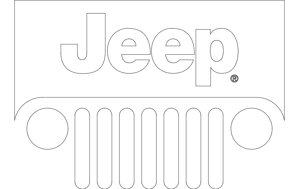 Jeep Logo dxf File Free Download  3axisco