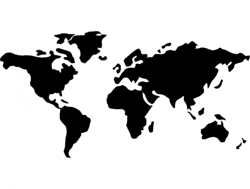 Mundo world map dxf File Free Download  3axisco