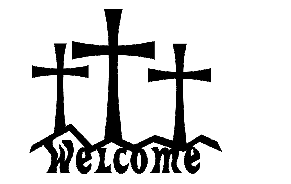 Cross Welcome dxf File Free Download  3axisco