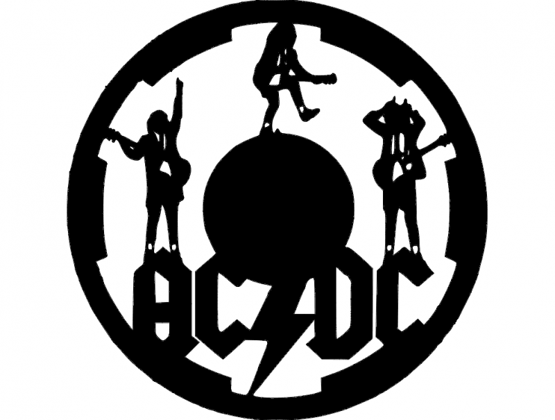 acdc clock dxf File Free Download  3axisco