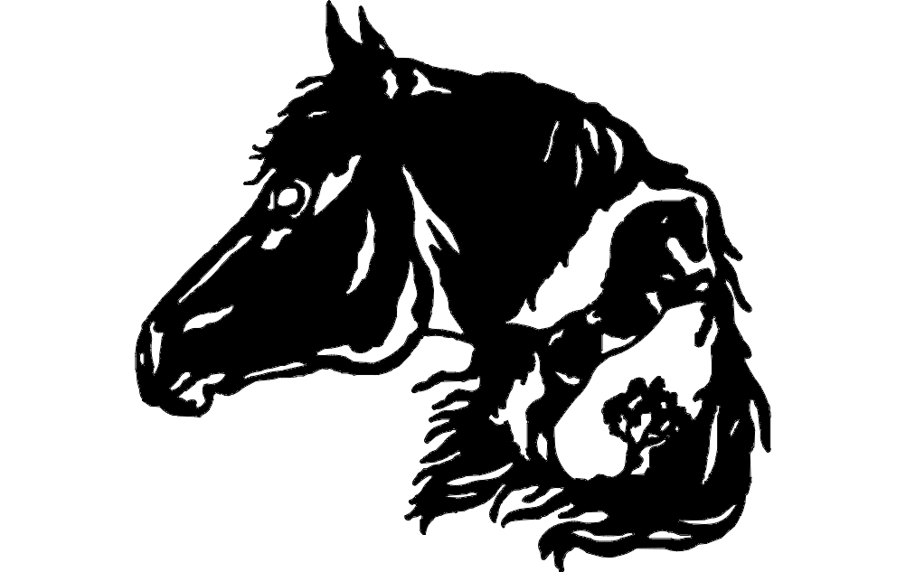 Horse Head 3 dxf File Free Download  3axisco
