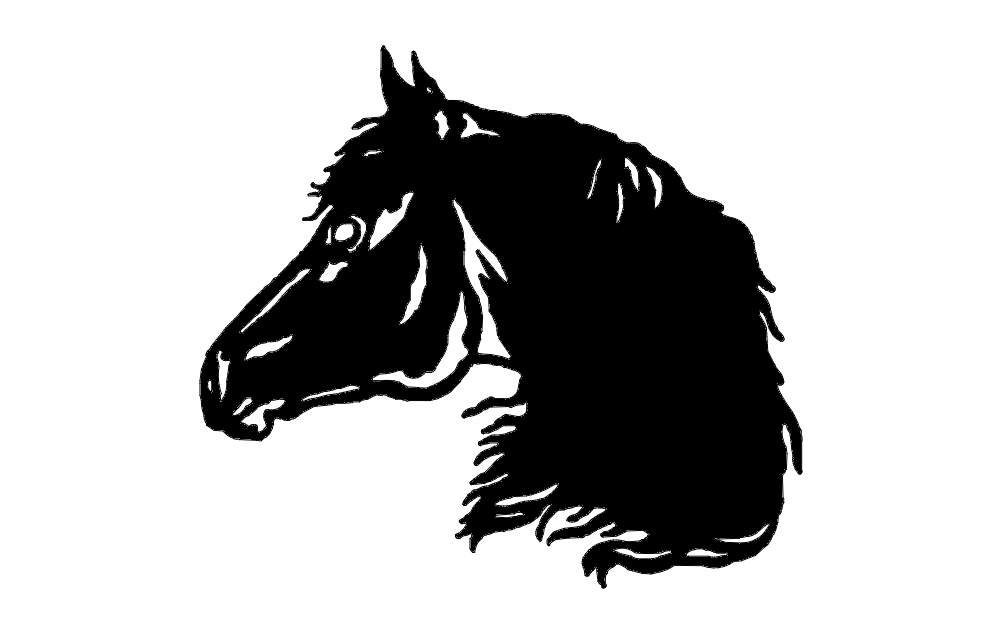 Horse Head dxf File Free Download  3axisco