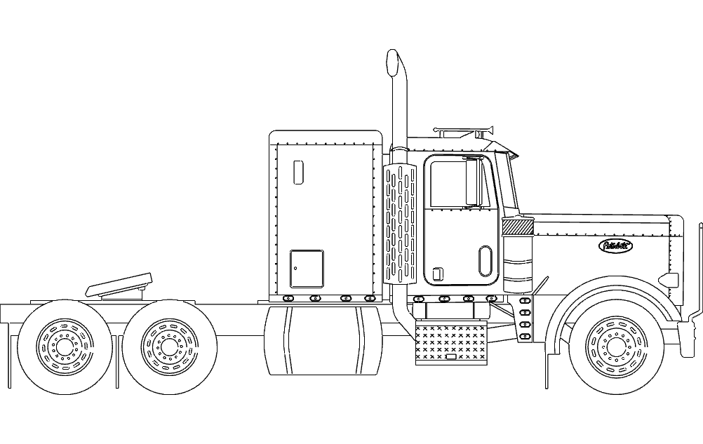 Beautiful 18 Wheeler Truck Dxf File Free Download 3axisco