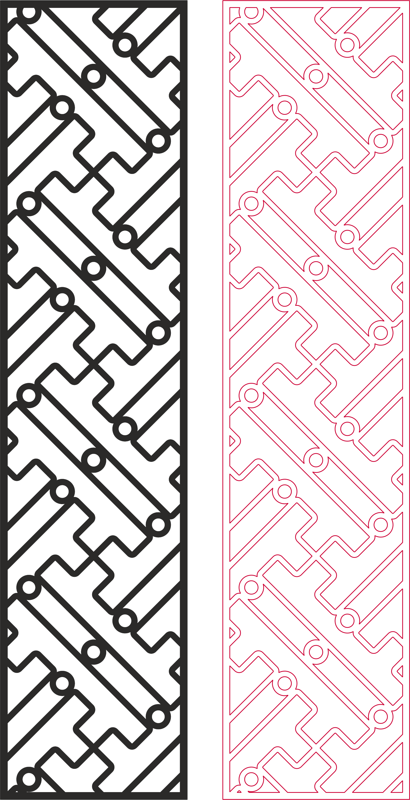 Partition Design pattern for laser cut wood dxf File Free