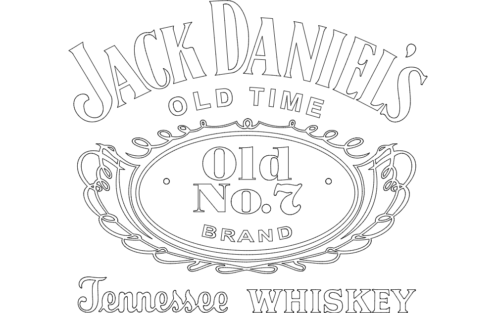 Jack Daniel's Tennessee Whiskey logo dxf File Free