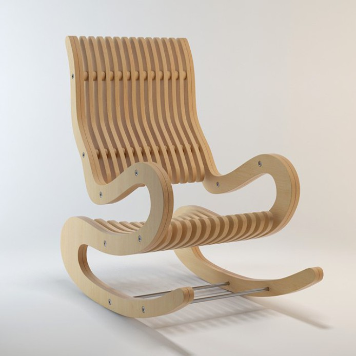 free rocking chair plans cathedral chairs plywood 15 mm dxf file download - 3axis.co