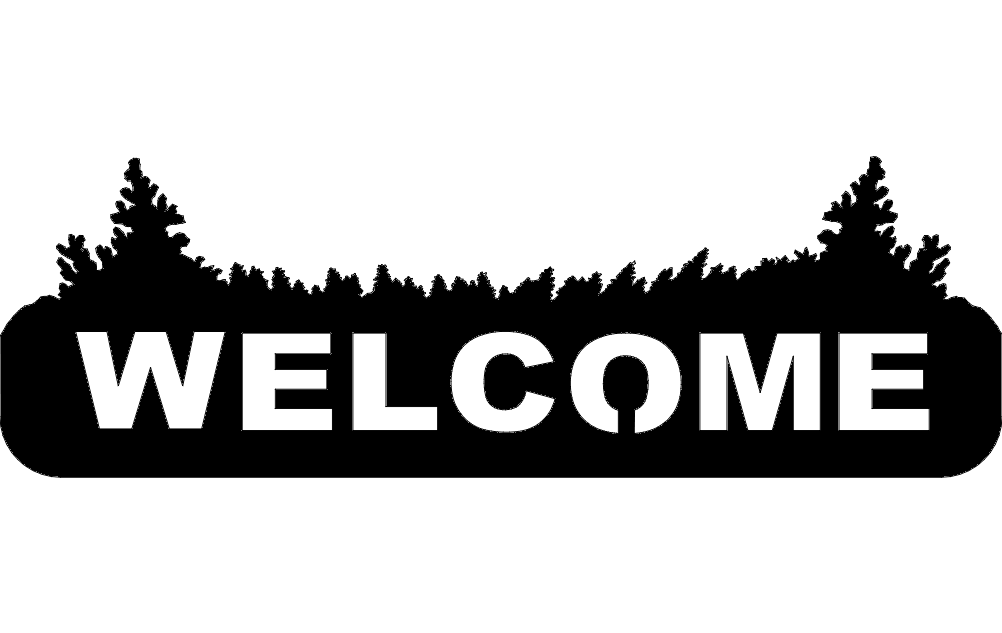 Welcome Sign dxf File Free Download  3axisco