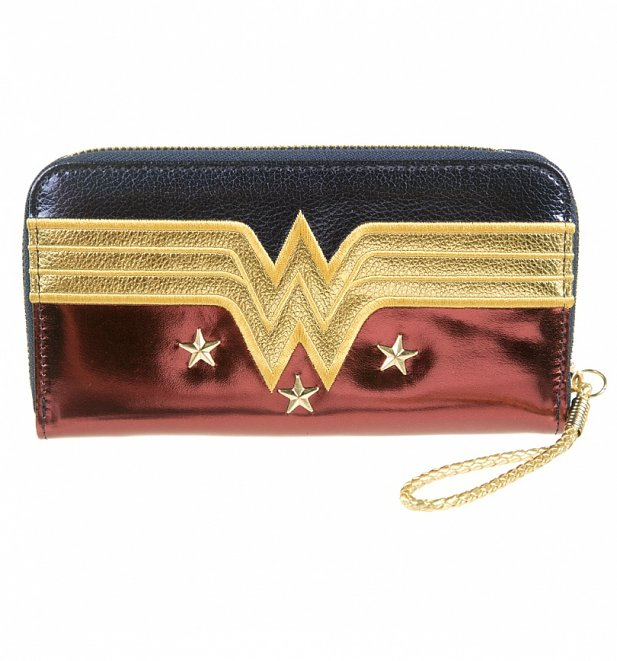 Wonder Woman Metallic Zip Up Purse