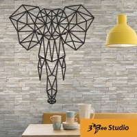 Geometric elephant wall art plan vector file for CNC ...