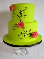 Lime green cake