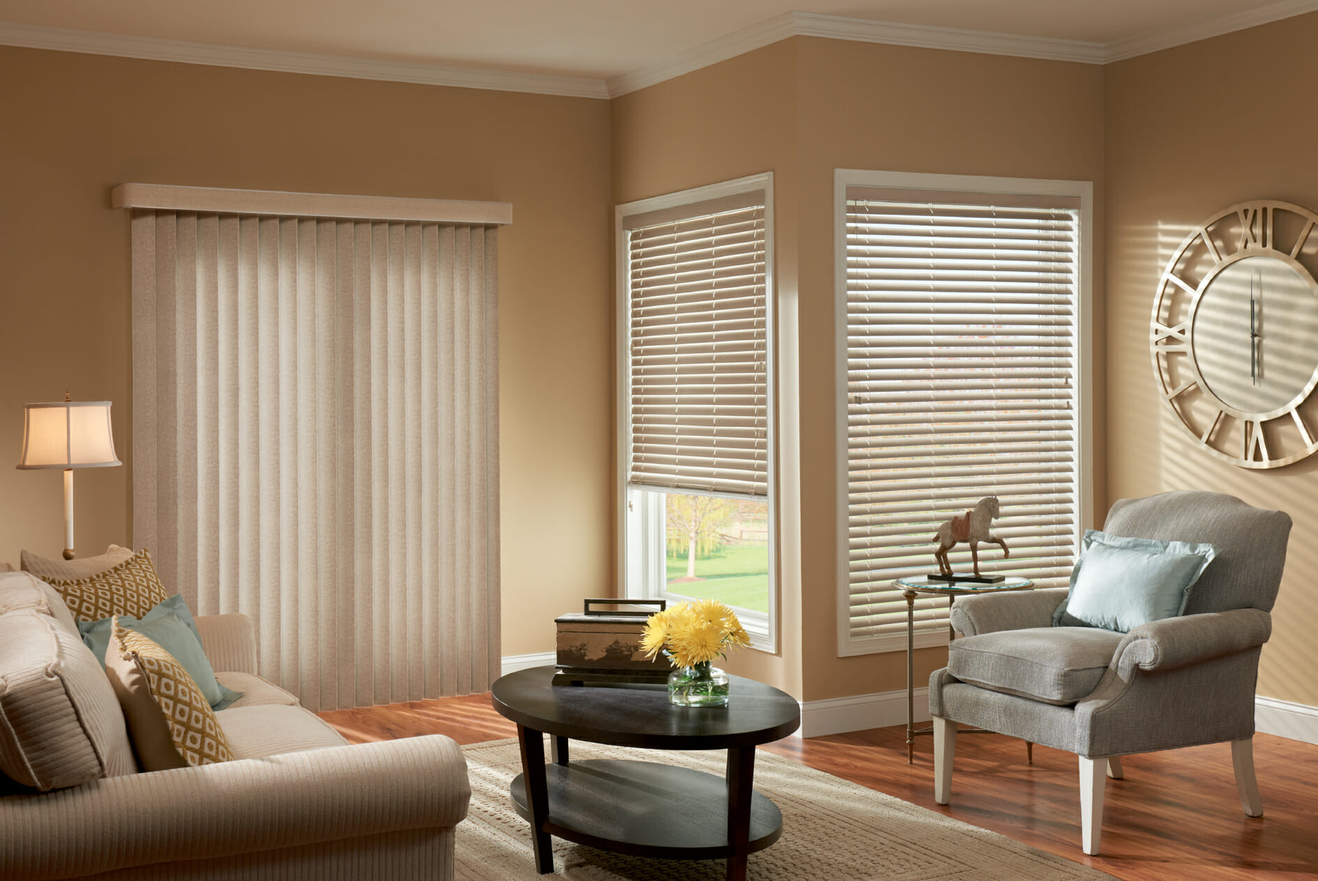 window coverings for large living room indian inspired design vertical blinds - 3 blind mice