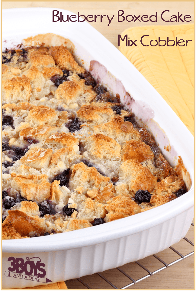 Easy Blueberry Cobbler With Cake Mix