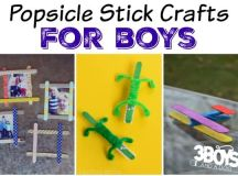 Popsicle Stick Crafts for Boys - 3 Boys and a Dog – 3 Boys ...