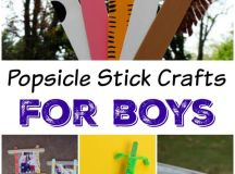 Popsicle Stick Crafts for Boys – 3 Boys and a Dog – 3 Boys ...