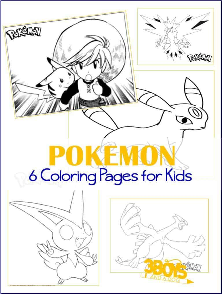 Printables 6 Pokemon Coloring Pages 3 Boys And A Dog