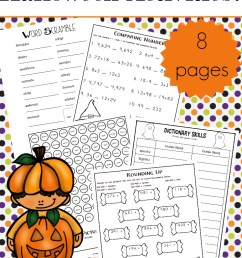 Halloween Worksheets for Upper Elementary – 3 Boys and a Dog [ 1100 x 735 Pixel ]