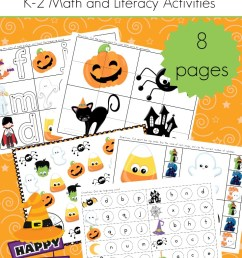Halloween Math and Literacy Worksheets for K-2 – 3 Boys and a Dog [ 1100 x 735 Pixel ]