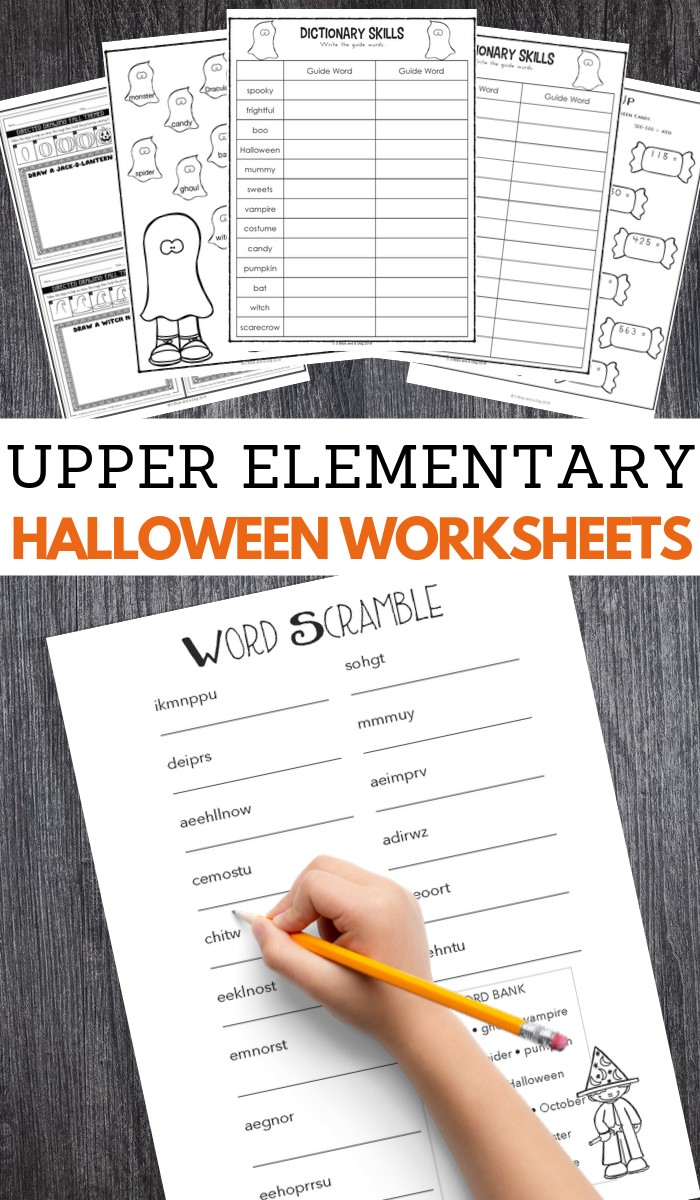 medium resolution of Halloween Worksheets for Upper Elementary – 3 Boys and a Dog