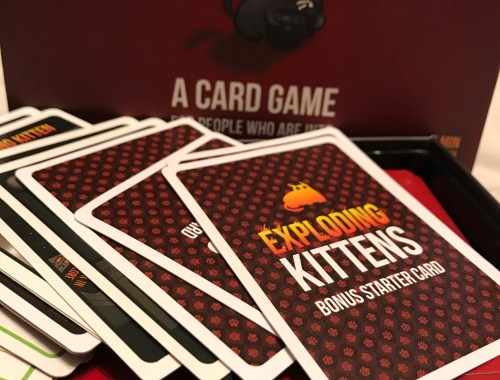 Exploding Kittens! Such a fun game for the family!