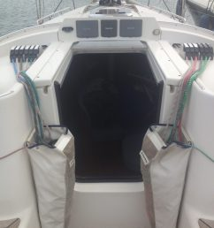 hull number 67 with carbon mast boom also available second aluminum mast and rigging very good condition  [ 1440 x 1920 Pixel ]
