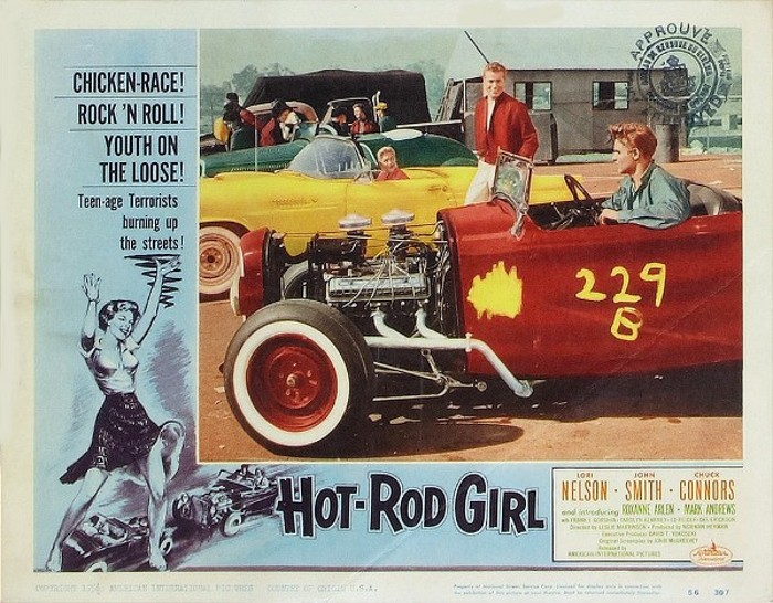 Hot Rod Girl 1956 3B Theater Poster Archive