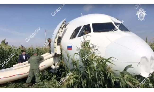 Russian pilot safely lands jetliner disabled by bird strike