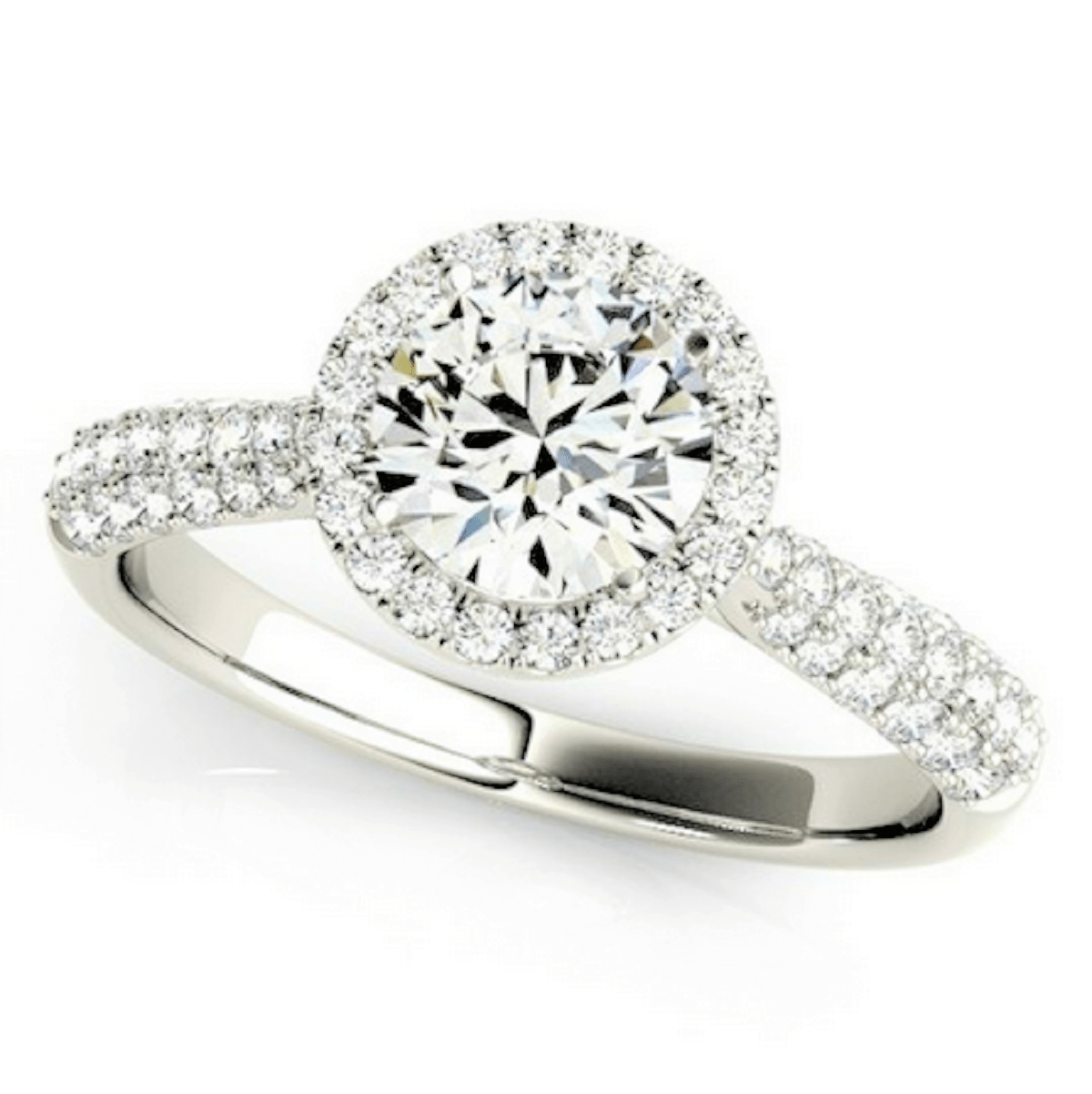 134 Carat Pave Accented Floating Halo Setting Engagement
