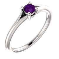 Purple Gemstone Solitaire Engagement Ring (3mm)  Classic ...