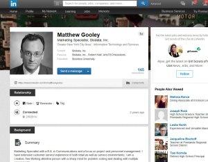 screenshot of LinkedIn profile with professional headshot