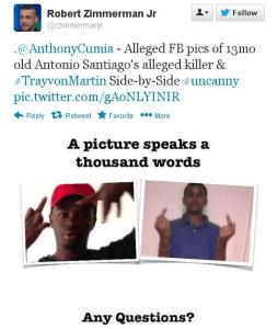 Robert Zimmerman racist tweet..