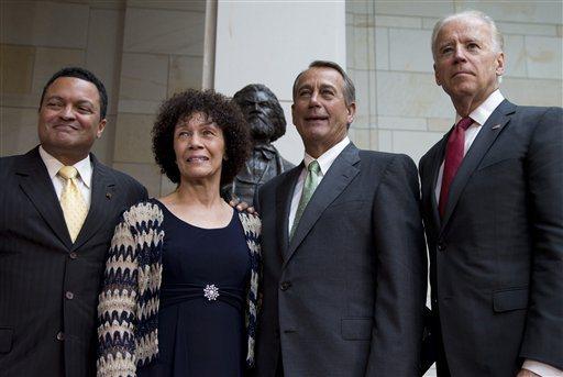 Nettie Washington Douglass, Kenneth B. Morris, Jr., John Boehner, Joe Biden