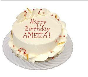 Happy Birthday Ametia!