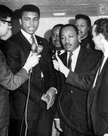 Dr King -Dr. Martin Luther King appeared with Muhammad Ali in Louisville to fight for fair housing.