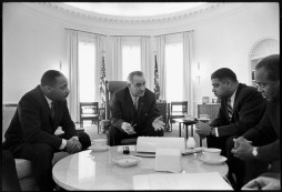 Dr. King in the White House with LBJ