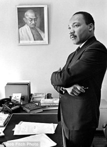 Dr. King-The 1966 photo of a reflective Martin Luther King in his office that inspired the monument