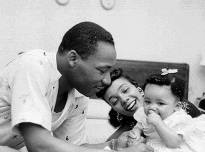 Dr King with wife and baby