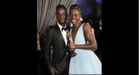 Lupita Nyong'o with brother Peter