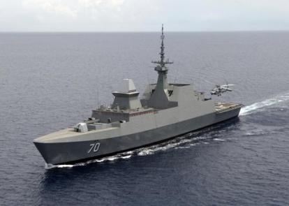 Ships and planes looking for MH370-An SH-60B Seahawk