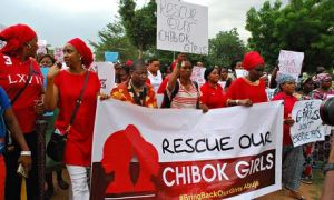 Hundreds march over Nigeria schoolgirl kidnappings
