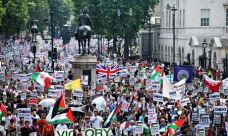 Protests in Lndon against Gaza ground operation