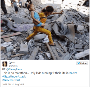 Palestinian kids running for their lives