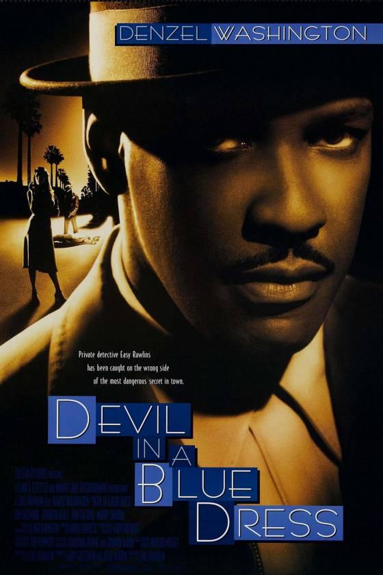 Denzel devil in a blue dress