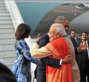 PM narendramodi greets Potus34